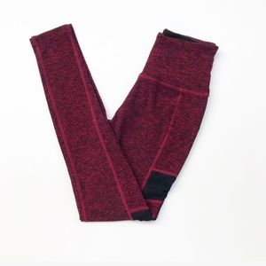Beyond Yoga Mesh Red High Rise Leggings Small